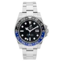 "Men's Rolex GMT - Master II Watch 116710 (116710B) ""Batman"""