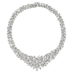 115.20 Carat Cluster Diamond Necklace
