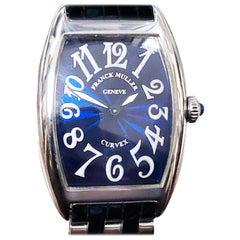 Franck Muller Ladies Stainless Steel Curvex Quartz Wristwatch