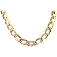 Henry Dunay Sabi Design and Diamond Necklace 18 Karat Yellow Gold
