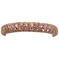 Fancy Pink Diamond Eternity Band Ring