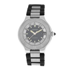 Men's Cartier 2427 Autoscaph Stainless Steel Date Automatic Watch