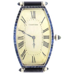 Art Deco Cartier Curved Tonneau Wristwatch