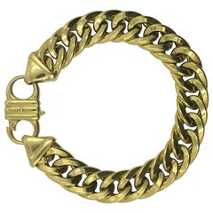 18 Karat Yellow Gold Link Bracelet