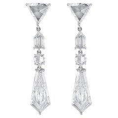 Fancy Cut Diamond Chandelier Earrings