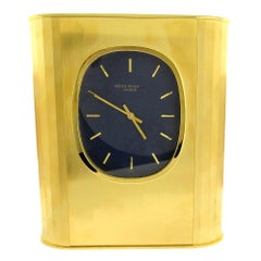 Patek Philippe 'Ellipse d'Or' Solar Quartz Clock, 1970's