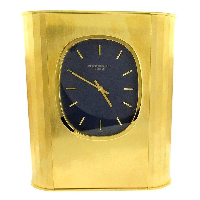 Patek Philippe 'Ellipse d'Or' Solar Quartz Clock, 1970's For Sale