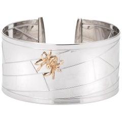 Vintage Spider Cuff Bracelet 14 Karat Gold Estate Fine Jewelry Bugs Creatures