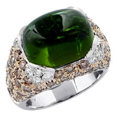 7.50 Carat Tourmaline and Diamond Ring