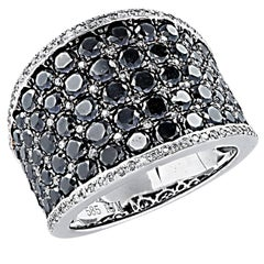 3 Carat Black and White Diamond Band
