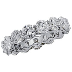 Vivid Diamonds 5.80 Carat Diamond Eternity Band