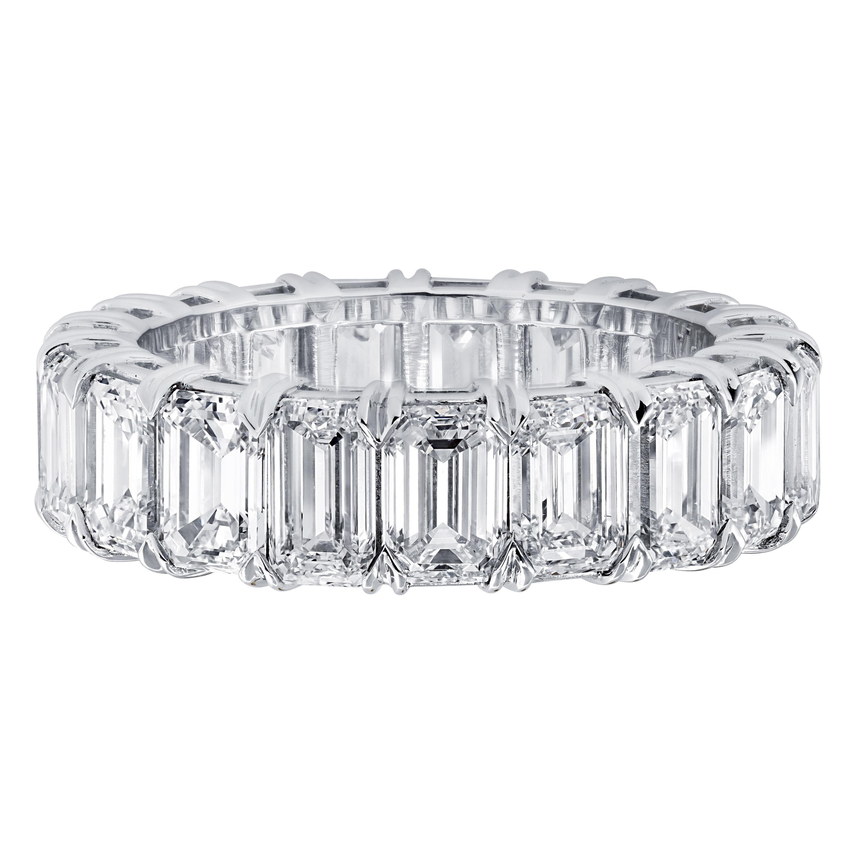 Vivid Diamonds GIA Certified 8.06 Carat Diamond Eternity Band