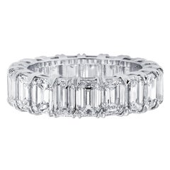 Vivid Diamonds GIA Certified 8.06 Carat Diamond Eternity Band