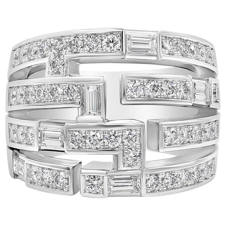 Harry Winston Diamond Traffic Ring For Sale