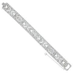 Art Deco Platinum 14 Carat Diamond Total Weight Bracelet