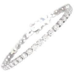New Diamond Tennis Bracelet in 14 Karat White Gold 6.65 Carat