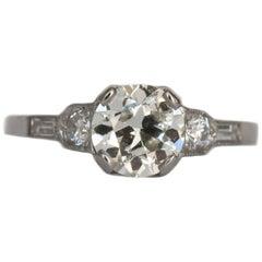 GIA Certified 1.23 Carat Diamond Platinum Engagement Ring