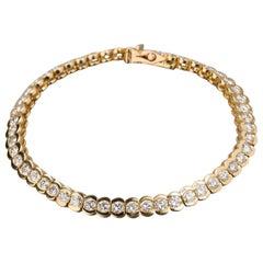 6.20 Carat Gold and Diamonds Bracelet