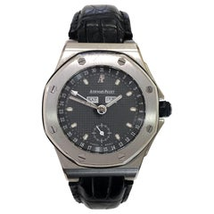 Audemars Piguet Royal Oak Offshore Stainless Steel Black Dial and Leather Strap