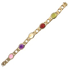Chaumet Gemstone Gold Link Bracelet