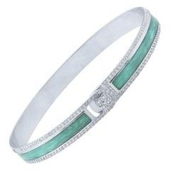 18K & 1.65 cts White Border Spectrum White Gold & Diamonds Bracelet by Alessa