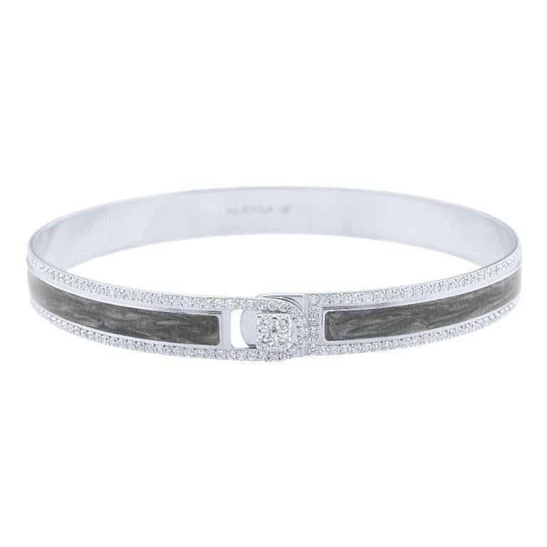 18K & 1.65 cts White Border Spectrum White Gold & Diamonds Bracelet by Alessa For Sale
