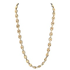 14 Karat Yellow Gold Mariner Link Style Chain Necklace