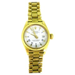 Rolex Oyster Perpetual Datejust 6927 Yellow Gold 1975 Ladies Watch