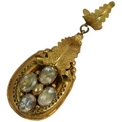 Early Victorian 15 Carat Gold and Rock Crystal Pendant