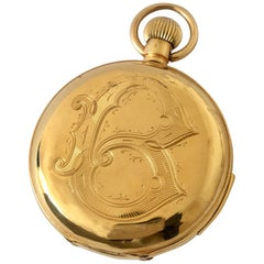 Antique 18 Karat Gold Quarter Repeater Full Hunter Pocket Watch