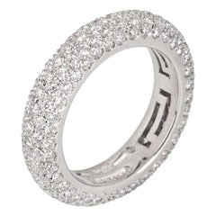 Bulgari Pave Diamond Band Ring 2.77 Carat
