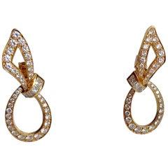 Boucheron 18 Carat Yellow Gold Diamond Stud Earrings
