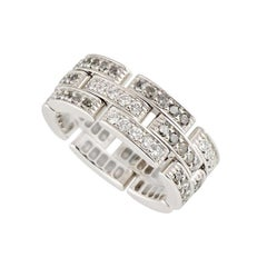 Cartier Maillon Panthere Diamond Links and Chain Ring 1.53 Carat