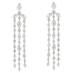 8.25 Carat Diamond Drop Earrings Platinum