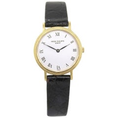 Patek Philippe 4819 Calatrava on Black Leather Watch
