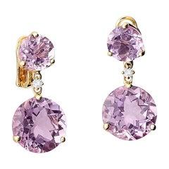 Cassandra Goad Riviere Double Amethyst and Diamond Earrings