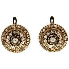 Diamonds 9 Karat Yellow Gold Stud Earrings
