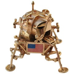 14 Karat Gold model of Apollo 11 articulated Lunar Excursion, 1969 Module, USA