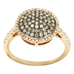 Morris & David 14 Karat Rose Gold 0.75 Carat Diamond Pave Ring