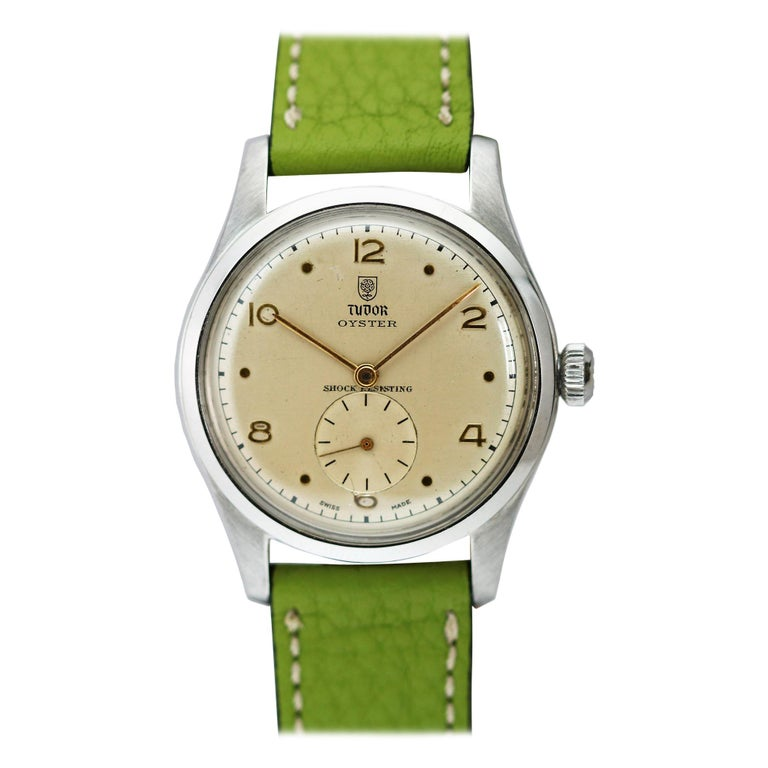 Tudor Stainless Steel Oyster Ref 4463 Wristwatch, circa 1960s For Sale