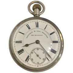 Antique Waltham Mass Pocket Watch Signed Fattorini & Sons, Bradford Non Magnetic