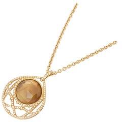 Stephen Webster 18 Karat Yellow Gold Citrine & Diamond Crystal Haze Necklace