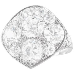 Art Deco 7 Carat Diamond Set Platinum Ring