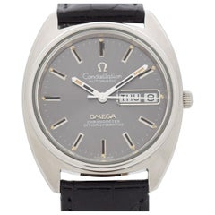 Vintage Omega Constellation Day-Date Stainless Steel Watch, 1973