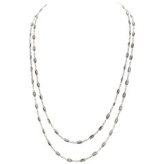 Antique Long Silver Necklace