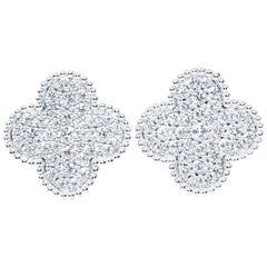 Van Cleef & Arpels White Gold Magic Alhambra Diamond Earrings