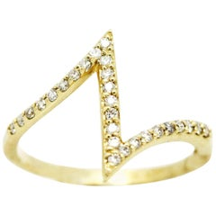 Morris & David 14 Karat Yellow Gold 0.25 Carat Diamond Ring