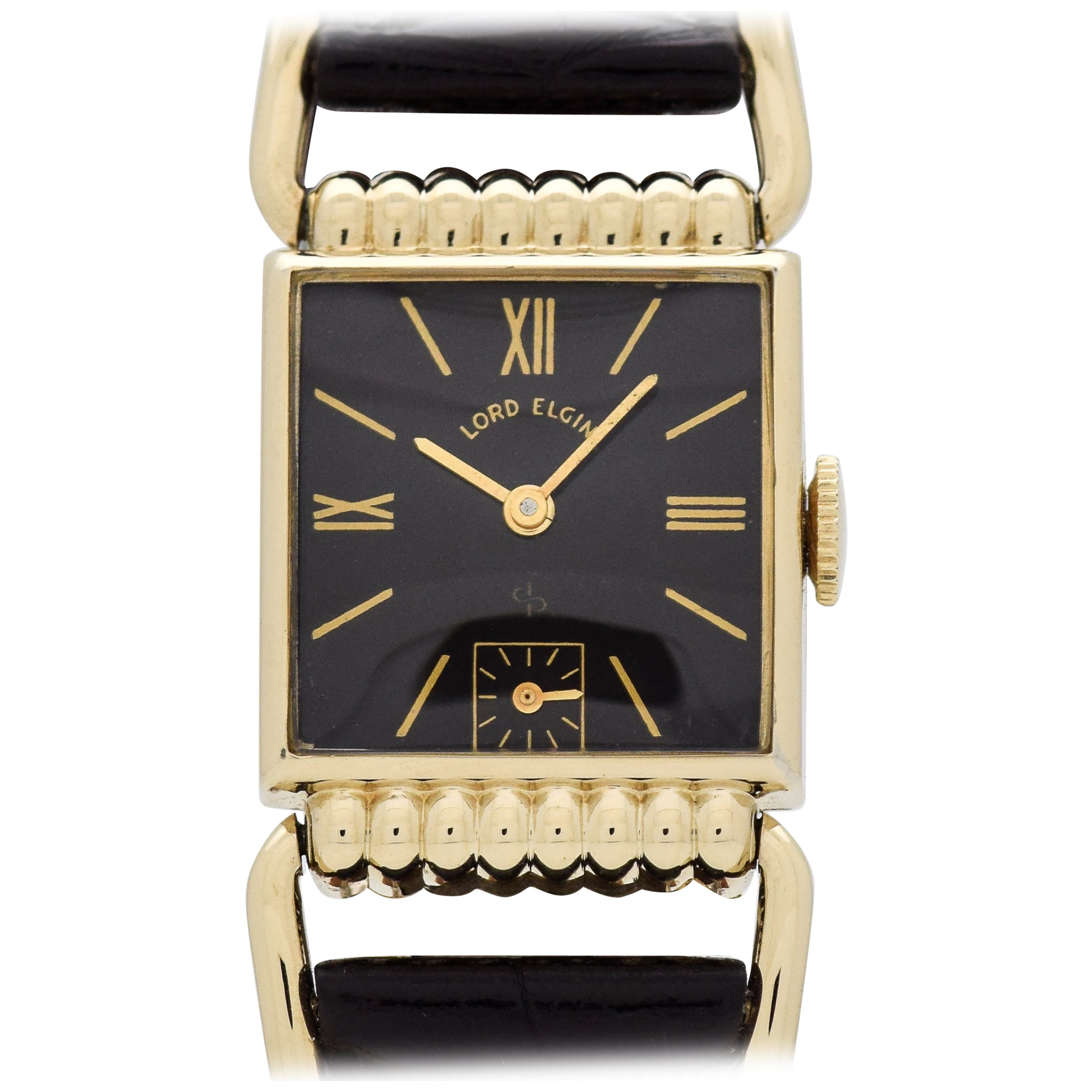 93de9b818baf Vintage Elgin Driver s Watch with a Black Dial