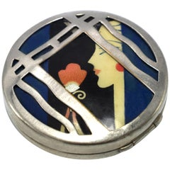Karess 1920s Art Deco Ladies Powder Compact