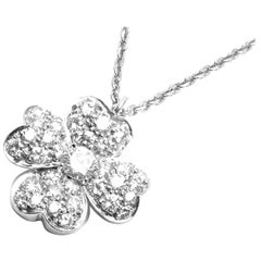 Van Cleef & Arpels Cosmos Diamond Platinum Pendant Necklace